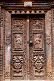 Temple wooden carved door Royalty Free Stock Photo