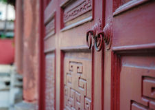 Temple wooden door Stock Photos