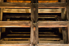Temple of wooden structures Royalty Free Stock Photos