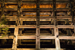 Temple of wooden structures Royalty Free Stock Image