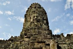 Angkor Wat Angkor Thom Face Carving 2 royalty free stock image