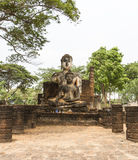 The temple at world heritage site Sukhothai, Thailand. Royalty Free Stock Photos