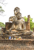 The temple at world heritage site Sukhothai, Thailand. Stock Photos