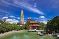Temple of  Xichan in Fuzhou. Chinese Pagoda and temples of  Xichan temple in Fuzhou,China. Xichan temple dating from thousand years ago is very famous place for Royalty Free Stock Photography