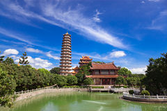 Temple of  Xichan in Fuzhou. Chinese Pagoda of  Xichan temple in Fuzhou,China. Xichan temple dating from thousand years ago is very famous place for  buddhism in Stock Photos