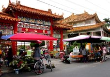 Temple in Yuli, Market Area Royalty Free Stock Image