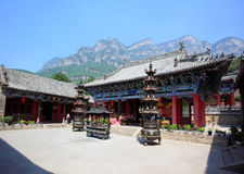 A temple in Yun-Tai Mountain, Royalty Free Stock Images