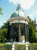 Temple on Zentralfriedhof Vienna Stock Image