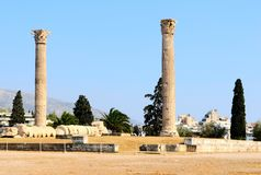 Temple of Zeus Royalty Free Stock Photos