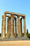 Temple of Zeus. The temple of Olympian Zeus in Athens (Greece Royalty Free Stock Photography