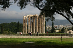 Temple of Zeus. In Athens, Greece royalty free stock image