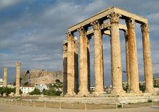 Temple of Zeus. Athens, Greece Royalty Free Stock Photography