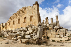 Temple of zeus. In ancient city of jerash, jordan Stock Photography