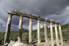 Temple of Zeus, ancient Greek settlement Euromos, Turkey Royalty Free Stock Photography