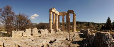 Temple of Zeus in ancient Nemea, Greece. stock images