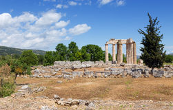Temple of Zeus in ancient Nemea, Peloponnese, Greece Royalty Free Stock Photography
