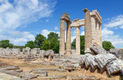Temple of Zeus in ancient Nemea, Peloponnese, Greece Stock Photography