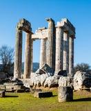 Temple of Zeus in the ancient Nemea Stock Photos