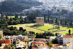 Temple of Zeus in Athens Royalty Free Stock Photography