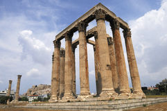 The Temple of Zeus, Athens. Royalty Free Stock Photo
