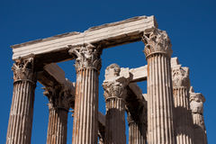 THE TEMPLE OF ZEUS ATHENS Royalty Free Stock Photos
