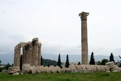 Temple of Zeus.Athens Stock Image