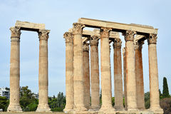 Temple of Zeus, Athens. Ancient Temple of Zeus, city of Athens, Greece Royalty Free Stock Photo
