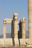 Temple of Zeus in Athens. Corinthian order. Greece Stock Photos