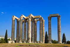 Temple of Zeus at Athens, Greece Stock Images