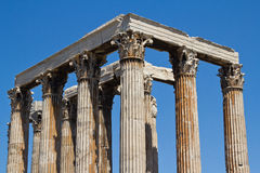 Temple of Zeus in Athens, Greece. Featuring Corinthian style columns Royalty Free Stock Photos