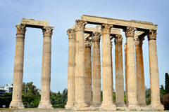 Temple of Zeus, Athens. Greece Royalty Free Stock Images