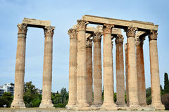 Temple of Zeus, Athens. Greece Royalty Free Stock Photos