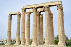 Temple of Zeus, Athens, Greece. Ancient temple of Zeus, Athens, Greece Royalty Free Stock Photography