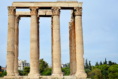 Temple of Zeus, Athens, Greece. Ancient temple of Zeus, Athens, Greece Stock Image