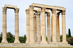 Temple of Zeus, Athens, Greece. Ancient Temple of Zeus, city of Athens, Greece Royalty Free Stock Image