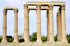 Temple of Zeus, Athens, Greece. Ancient Temple of Zeus, city of Athens, Greece Stock Photography
