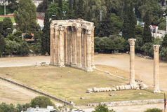 Temple of Zeus, Athens, Greece Royalty Free Stock Images
