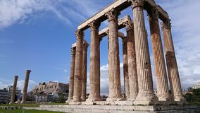 Temple of Zeus, Athens - Greece Royalty Free Stock Photo