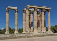 Temple of Zeus at Athens near Acropolis Stock Images