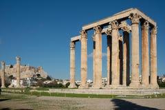 The Temple of Zeus, Athens royalty free stock photos