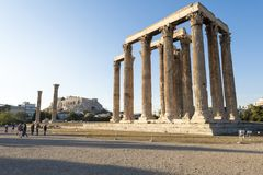 Temple of zeus in athens royalty free stock image