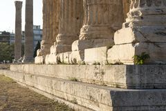 Temple of zeus in athens Stock Photography