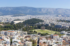 Temple of Zeus and Athens Royalty Free Stock Photography
