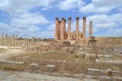 Temple of Zeus. In Jordanian city of Jerash stock image