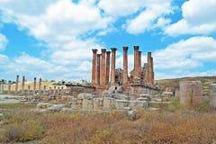 Temple of Zeus. In Jordanian city of Jerash stock images