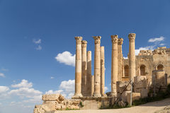 Temple of Zeus, Jordanian city of Jerash  (Gerasa of Antiquity) Stock Photo