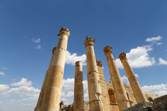 Temple of Zeus, Jordanian city of Jerash  (Gerasa of Antiquity) Stock Photography