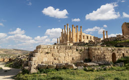 Temple of Zeus, Jordanian city of Jerash  (Gerasa of Antiquity) Stock Image