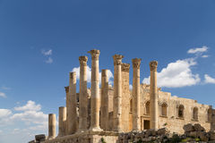 Temple of Zeus, Jordanian city of Jerash  (Gerasa of Antiquity) Royalty Free Stock Photography
