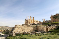 Temple of Zeus, Jordanian city of Jerash Royalty Free Stock Photo